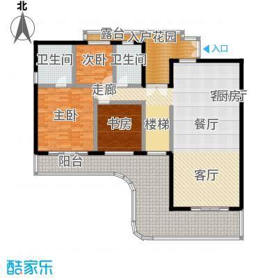 华润小径湾170.00㎡洋房二层平层02户型3室2厅2卫1厨 170.00㎡户型3室2厅2卫