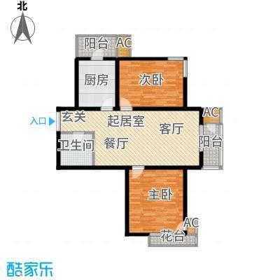 君悦府101.15㎡C型标准层户型2室1厅1卫
