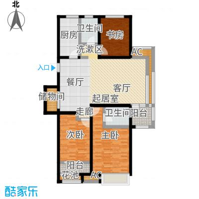 国耀上河城135.00㎡c2户型3室2厅2卫户型3室2厅2卫