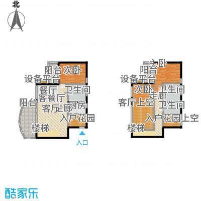 华润小径湾点式复式三房A户型3室2厅3卫192.00㎡户型3室2厅3卫