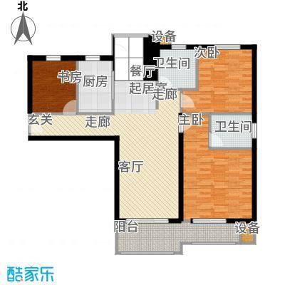 学府丽城125.00㎡D户型3室2厅2卫