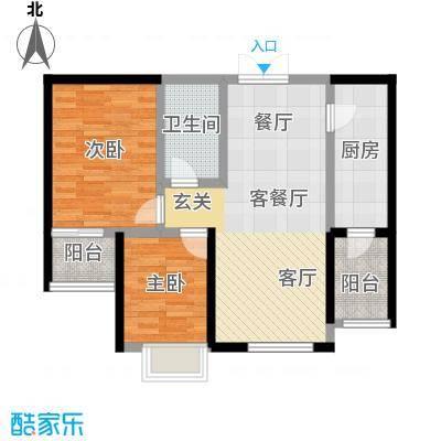 宏润・翠湖天地70.99㎡户型10室