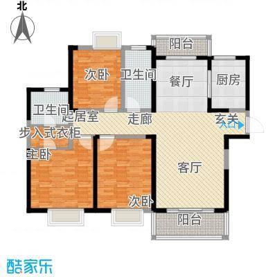南昌莱蒙都会135.00㎡高层奢享三房户型3室2厅2卫