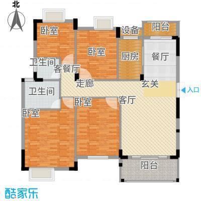 联泰棕榈庄园155.00㎡洋房D户型4室2厅2卫