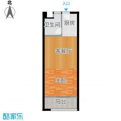 香榭水岸四期公寓56.00㎡酒店式公寓C户型1室1厅1卫