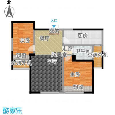 三江尊园85.00㎡D户型2室2厅1卫