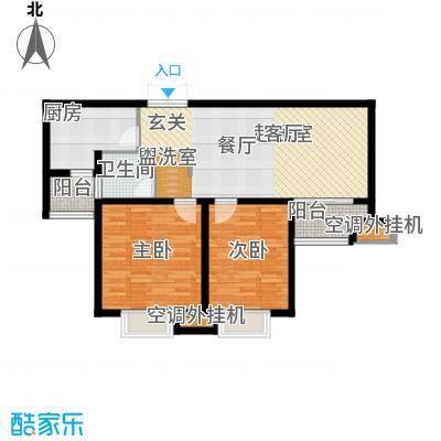 商城凤凰印象83.29㎡A户型2室2厅1卫