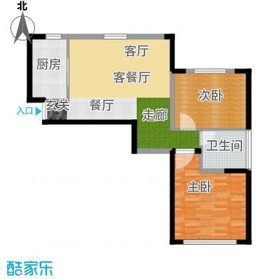 中国铁建国际花园86.20㎡户型2室2厅1卫X