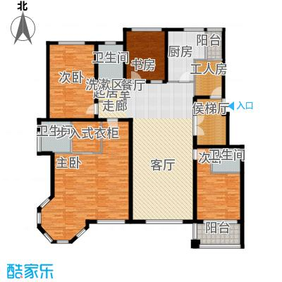 国际新城205.00㎡国际官邸A户型4室2厅3卫