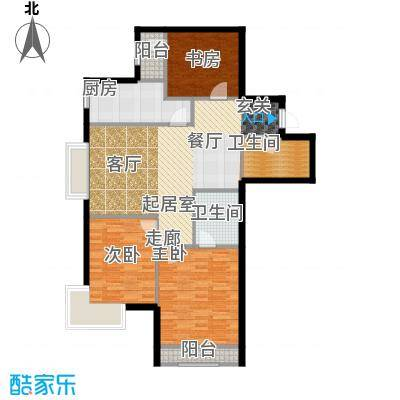 新松・茂樾山108.00㎡建筑面积约108平米 A3户型3室2厅2卫