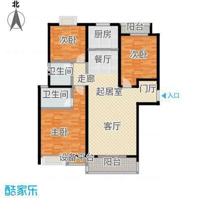 逸景湾128.00㎡5号楼128平米3房户型3室2厅2卫