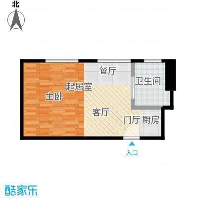 逸景湾47.02㎡1号楼47平米1室户型1室1厅1卫