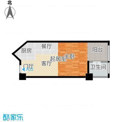 逸景湾51.41㎡1号楼51平米1室户型1室1厅1卫