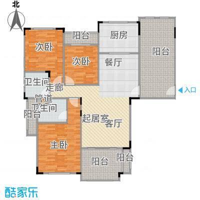 碧桂园凰城125.00㎡C16-2户型 3室2厅2卫户型3室2厅2卫