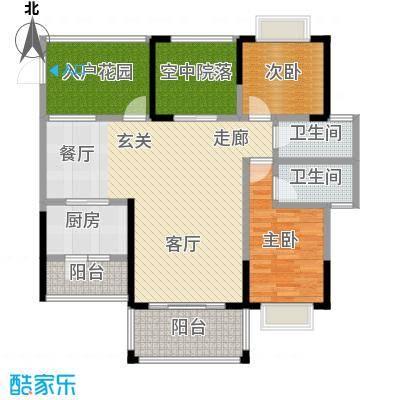 和瑞深圳青年二期107.00㎡02户型3室2厅2卫LL