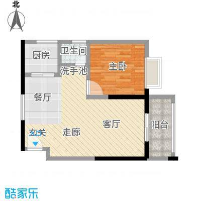 和瑞深圳青年二期1房2厅1卫户型1室2厅1卫LL