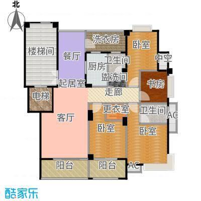 紫东名府136.00㎡D户型4室2厅2卫