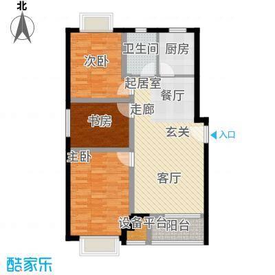 上林风景105.50㎡G1户型三室两厅一卫户型3室2厅1卫