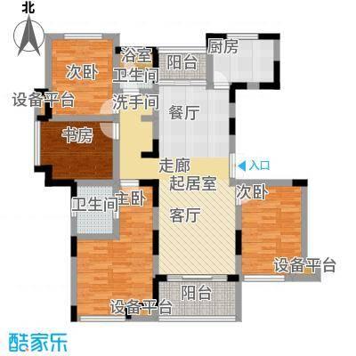 新力帝泊湾104.00㎡D1-2户型4室2厅2卫