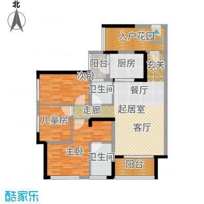 大欣城114.00㎡D户型114-117平米三房两厅两卫户型3室2厅2卫