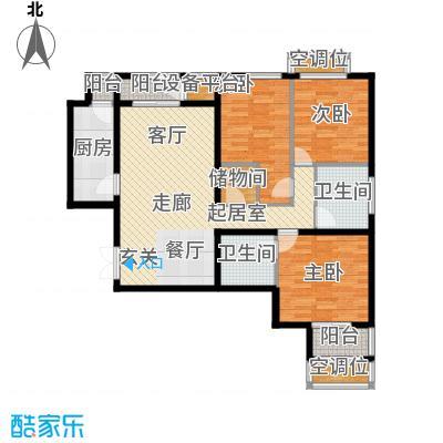 学府・未来城14号楼A户型 三室两厅两卫户型3室2厅2卫