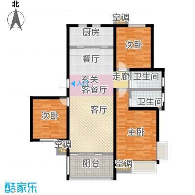 中国铁建・原香漫谷128.00㎡C2户型3室2厅2卫