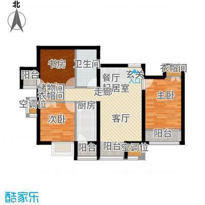 学府・未来城14号楼D户型 三室两厅一卫户型3室2厅1卫
