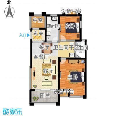 风尚米兰89.00㎡E2 两房两厅一卫 建筑面积89㎡户型3室2厅1卫