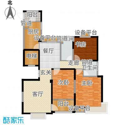 风尚米兰142.00㎡B5 三房两厅两卫 建筑面积140-142㎡户型3室2厅2卫