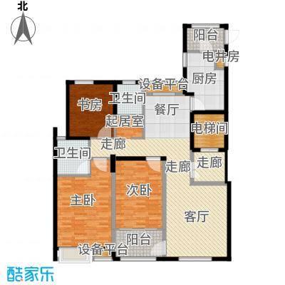 风尚米兰130.00㎡A7 三室两厅两卫 建筑面积130㎡户型3室2厅2卫