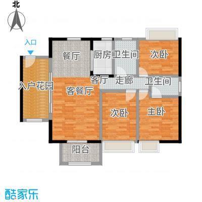 富丽嘉园97.34㎡3室2厅2卫 97.34㎡户型3室2厅2卫