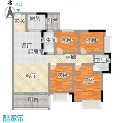 海锦御林苑131.12㎡A户型4室2厅2卫