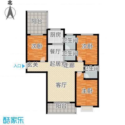 地久艳阳天143.98㎡3#B 三室两厅两卫 143.98户型3室2厅2卫
