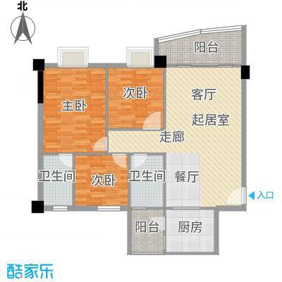 同利康园舒心三房两厅两卫105㎡户型3室2厅2卫