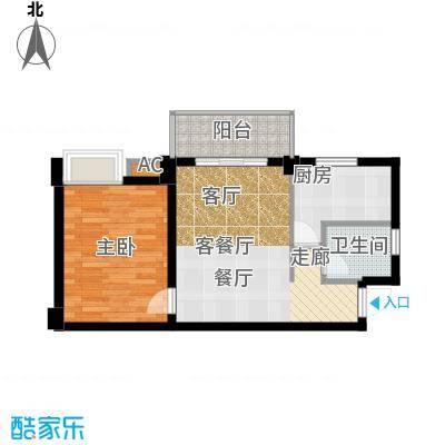 尚城国际户型1室1厅1卫1厨