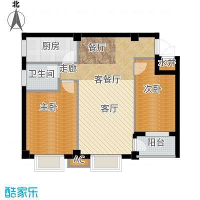 尚城国际户型2室1厅1卫1厨