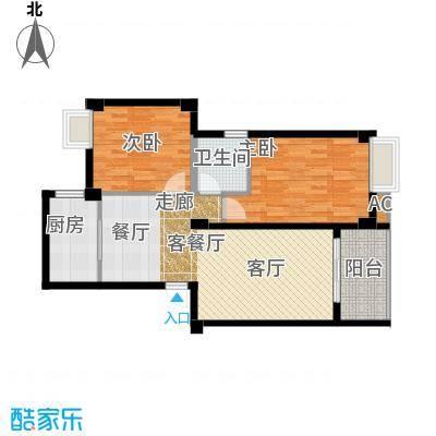 尚城国际90.92㎡C户型2室2厅1卫