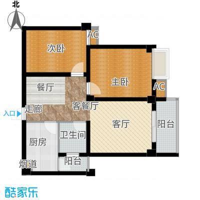 尚城国际82.87㎡B户型2室2厅1卫