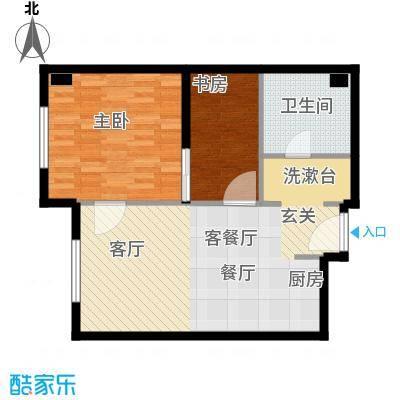 华润紫阳里68.00㎡C2户型2室1厅1卫