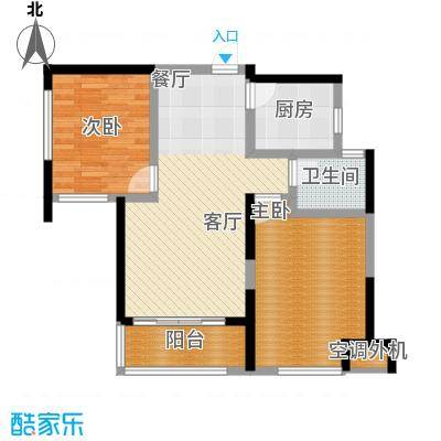蚌埠绿地中央广场85.00㎡户型2室2厅1卫