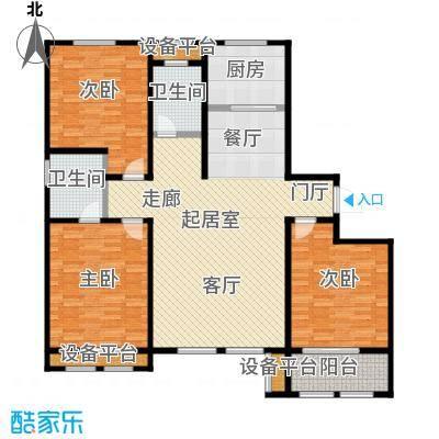 明佳花园140C户型3室2厅2卫
