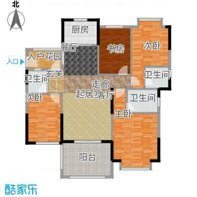 尚城雅苑135㎡户型4室2厅2卫