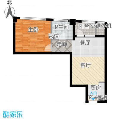 万马滨河城1919万马滨河城户型1室1厅1卫