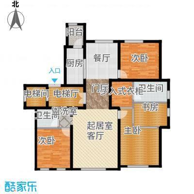 半湾半岛162.00㎡四室两厅两卫户型4室2厅2卫