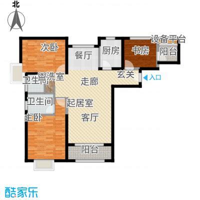 北辰红星国际广场131.84㎡C1户型3室2厅2卫