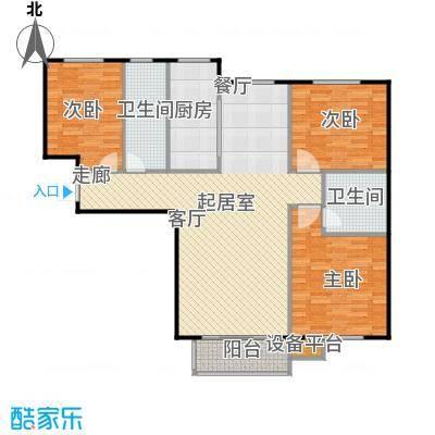 哈西万达广场123.00㎡C户型3室2厅2卫建筑面积123-128平方米户型3室2厅2卫