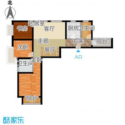 北辰红星国际广场118.27㎡E户型3室2厅2卫