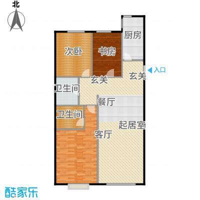 融侨观邸122.00㎡三室户型3室2厅2卫