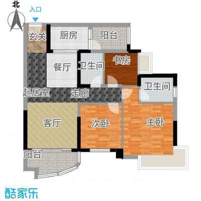 碧桂园公园1号108.00㎡8街6号 208户型3室2厅2卫