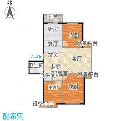 北华家园户型3室1卫